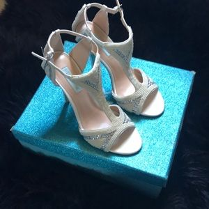 Betsey Johnson blue collection bridal heels
